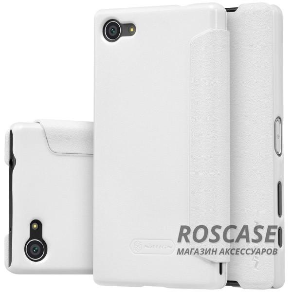 Кожаный чехол (книжка) Nillkin Sparkle Series для Sony Xperia Z5 Compact (Белый)Описание:компания производитель: Nillkin;подходит в точности к Sony Xperia Z5 Compact;изготовлен: кожа в сочетании с полиуретаном;вид: книжка.Особенности:стильное дополнение смартфона;блестящая поверхность;стильный дизайн;маленький вес.<br><br>Тип: Чехол<br>Бренд: Nillkin<br>Материал: Искусственная кожа