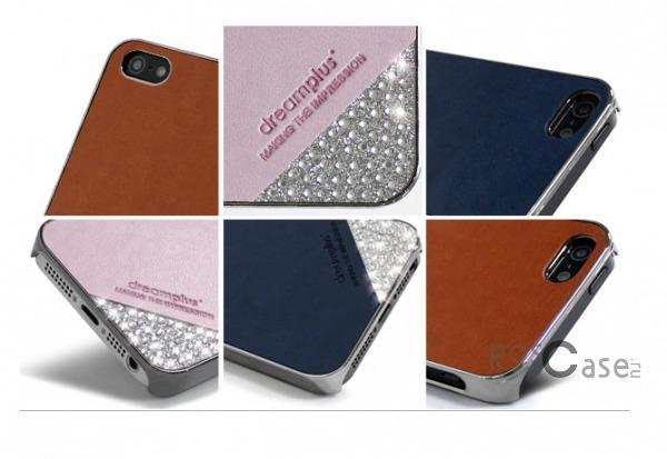 фото кожаная накладка со стразами Dreamplus Slip-on Series для Apple iPhone 5/5S/5SE