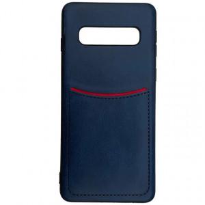 ILEVEL | Чехол с кожаным покрытием и с карманом-визитницей для Samsung Galaxy S10 Plus