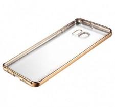 Силиконовый чехол для Samsung Galaxy S6 G920F/G920D Duos с глянцевой окантовкой
