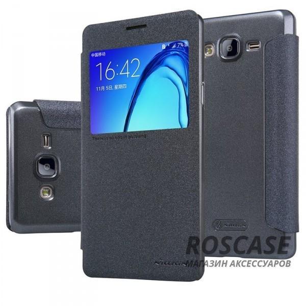 Кожаный чехол (книжка) Nillkin Sparkle Series для Samsung Galaxy On7 (Черный)Описание:от компании&amp;nbsp;Nillkin;совместимость: Samsung Galaxy On7;материал: искусственная кожа, поликарбонат;тип: чехол-книжка.Особенности:не скользит в руках;защита от механических повреждений;окошко в обложке;не выгорает;блестящая поверхность;надежная фиксация.<br><br>Тип: Чехол<br>Бренд: Nillkin<br>Материал: Искусственная кожа