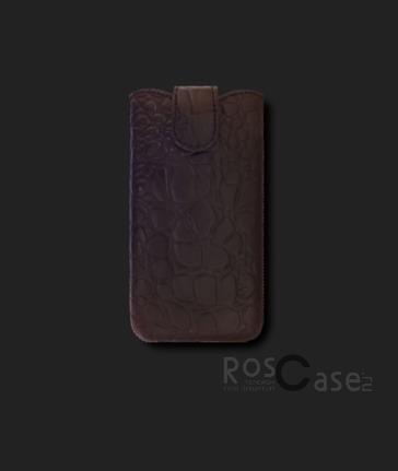 фото кожаный футляр Mavis Classic Crocodile 111x60/125x62 для iPhone 4G/4S