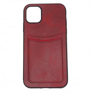ILEVEL | Чехол с кожаным покрытием и карманом  для iPhone 11