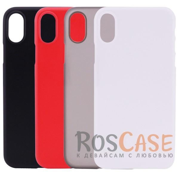 Ультратонкий матовый чехол-накладка ROCK Naked Shell для Apple iPhone X (5.8)Описание:производитель -&amp;nbsp;Rock;совместимость - Apple iPhone X (5.8);материал - гибкий пластик;тонкий дизайн - 0,45 мм;матовая поверхность;защитные бортики вокруг камеры;формат - накладка;защита от царапин, потертостей и сколов;на чехле не заметны отпечатки пальцев;не скользит в руках;предусмотрены все функциональные вырезы.<br><br>Тип: Чехол<br>Бренд: ROCK<br>Материал: Пластик