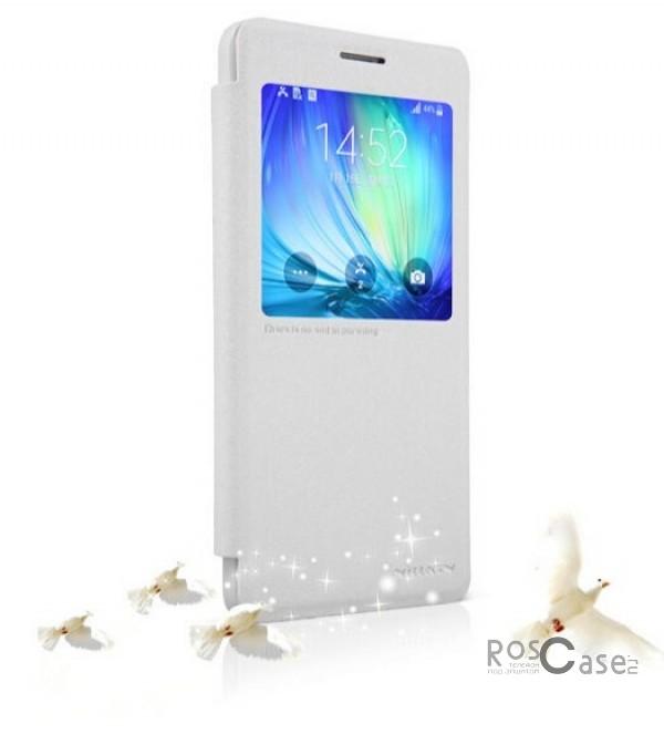 Кожаный чехол (книжка) Nillkin Sparkle Series для Samsung A700H / A700F Galaxy A7 (Белый)Описание:бренд -&amp;nbsp;Nillkin;совместим с Samsung A700H / A700F Galaxy A7;материал: кожзам;тип: чехол-книжка.Особенности:защита от механических повреждений;не скользит в руках;интерактивное окошко;функция Sleep mode;не выгорает;тонкий дизайн.<br><br>Тип: Чехол<br>Бренд: Nillkin<br>Материал: Искусственная кожа