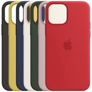 Силиконовый чехол Silicone Case с микрофиброй для iPhone 12 Mini