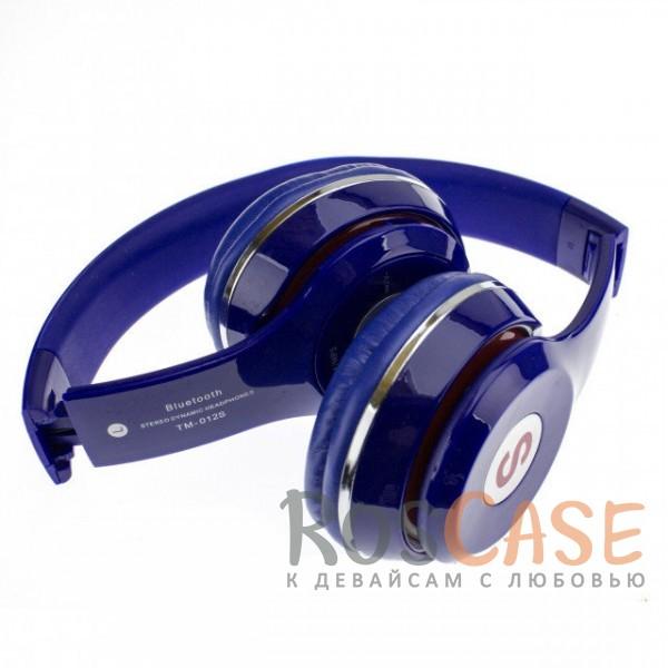 Фотография Синий TM-012S | Беспроводные наушники Bluetooth с микрофоном и разъемом для карты памяти