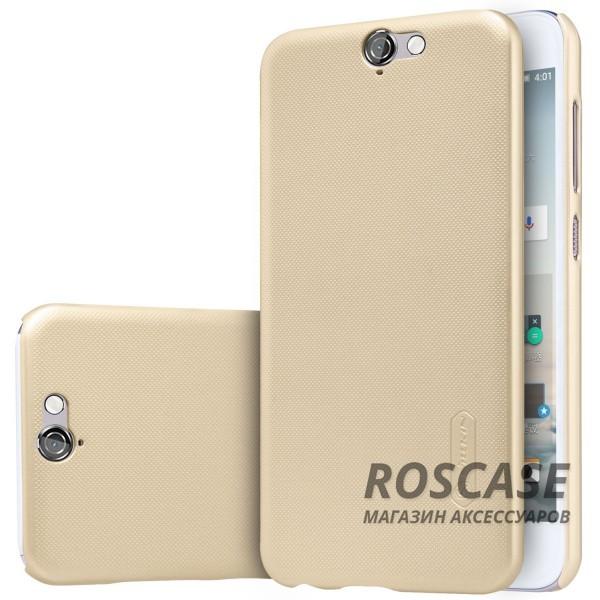 Чехол Nillkin Matte для HTC One / A9 (+ пленка) (Золотой)Описание:производитель - компания&amp;nbsp;Nillkin;материал - поликарбонат;совместим с HTC One / A9;тип - накладка.&amp;nbsp;Особенности:матовый;прочный;тонкий дизайн;не скользит в руках;не выцветает;пленка в комплекте.<br><br>Тип: Чехол<br>Бренд: Nillkin<br>Материал: Поликарбонат