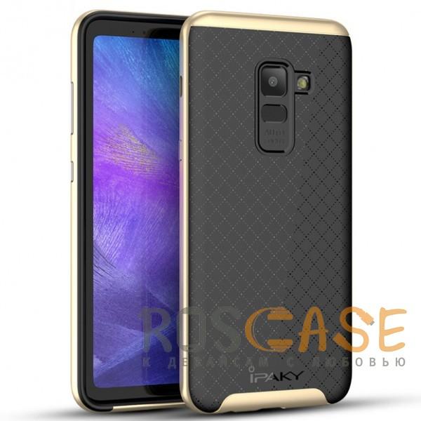 Фото Черный / Золотой iPaky Hybrid | Противоударный чехол для Samsung A730 Galaxy A8+ (2018)