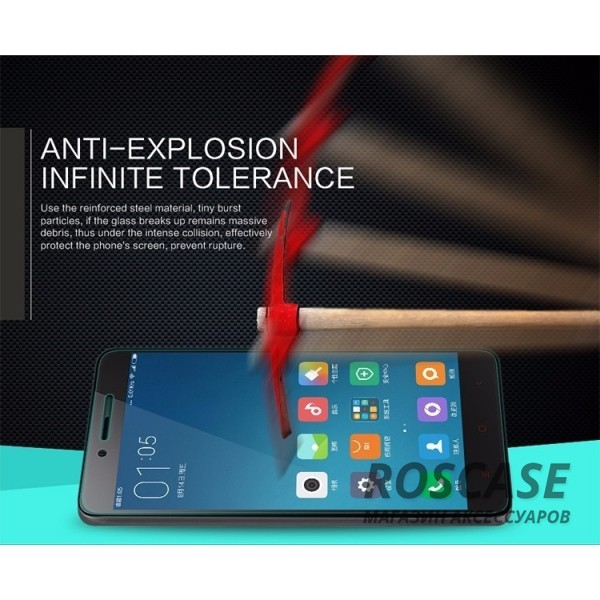 фото защитное стекло Nillkin Anti-Explosion Glass Screen (H) для Xiaomi Redmi Note 2 / Redmi Note 2 Prime