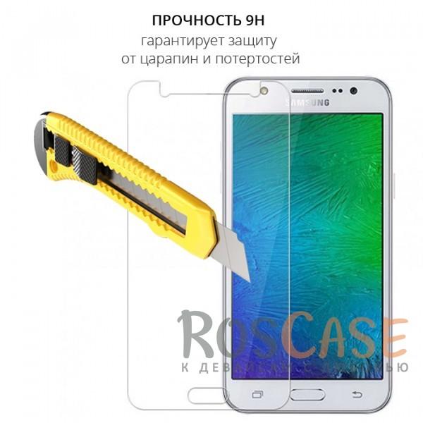 Фотография Прозрачное защитное стекло с закругленными краями и олеофобным покрытием для Samsung J510F Galaxy J5 (2016)