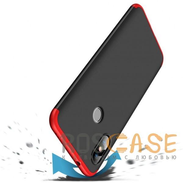 Фото Черный / Красный GKK LikGus 360°   Двухсторонний чехол для Xiaomi Mi A2 Lite / Xiaomi Redmi 6 Pro с защитными вставками