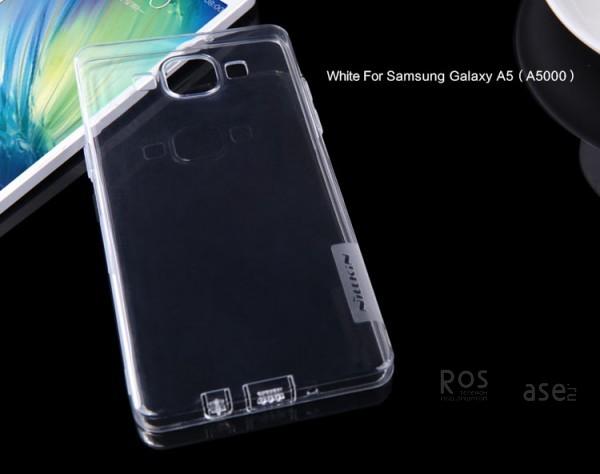 TPU чехол Nillkin Nature Series для Samsung A500H / A500F Galaxy A5 (Бесцветный (прозрачный))Описание:производитель  -  бренд&amp;nbsp;Nillkin;совместим с Samsung A500H / A500F Galaxy A5;материал  -  термополиуретан;тип  -  накладка.&amp;nbsp;Особенности:в наличии все вырезы;заглушки для разъемов: зарядное устройство, наушники;не скользит в руках;тонкий дизайн;защита от ударов и царапин;прозрачный.<br><br>Тип: Чехол<br>Бренд: Nillkin<br>Материал: TPU