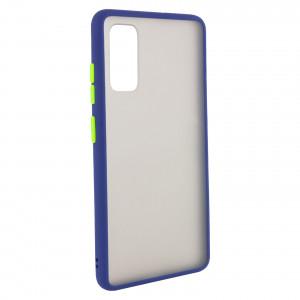Противоударный матовый полупрозрачный чехол  для Samsung Galaxy S20