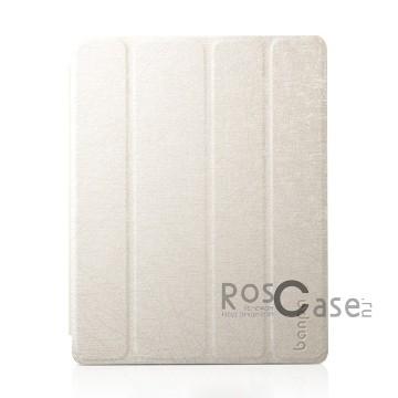 Кожаный чехол-книжка Banpa с функцией подставки для Apple IPAD 4/3/2 (Белый)Описание:производитель  -  Banpa;совместим с Apple IPAD 4/3/2;материалы  -  кожзам и микрофибра;форма  -  чехол-книжка.&amp;nbsp;Особенности:может выполнять роль подставки;имеет все необходимые вырезы;легко чистится;не увеличивает габариты планшета;защищает от ударов и падений;морозоустойчивый.<br><br>Тип: Чехол<br>Бренд: Banpa<br>Материал: Искусственная кожа