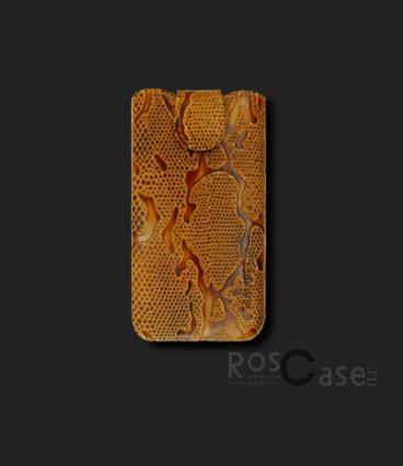 фото кожаный футляр Mavis Classic PYTHON 111x60/125x62 для iPhone 4G/4S