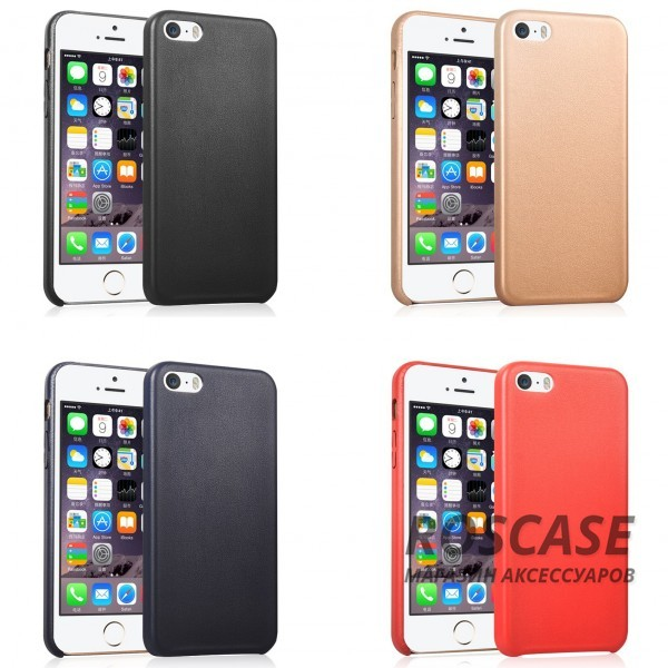 Фото Ультратонкая кожаная PU накладка для Apple iPhone 5/5S/SE