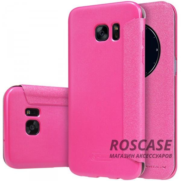 Кожаный чехол (книжка) Nillkin Sparkle Series для Samsung G935F Galaxy S7 Edge (Розовый)Описание:бренд -&amp;nbsp;Nillkin;совместим с Samsung G935F Galaxy S7 Edge;материал: кожзам;тип: чехол-книжка.Особенности:защита от механических повреждений;не скользит в руках;интерактивное окошко Smart window;функция Sleep mode;не выгорает;тонкий дизайн.<br><br>Тип: Чехол<br>Бренд: Nillkin<br>Материал: Искусственная кожа