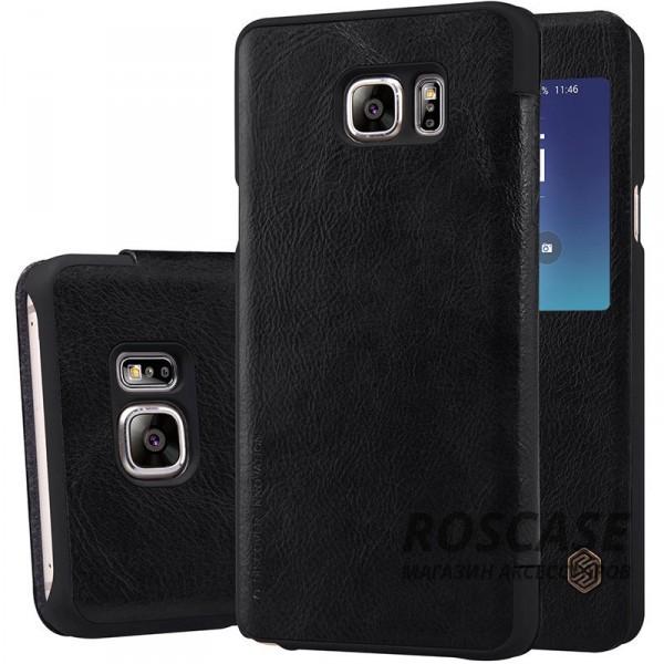Кожаный чехол (книжка) Nillkin Qin Series для Samsung Galaxy Note 5 (Черный)Описание:производитель:&amp;nbsp;Nillkin;совместим с Samsung Galaxy Note 5;материал: натуральная кожа;тип: чехол-книжка.&amp;nbsp;Особенности:окошко в обложке;ультратонкий;фактурная поверхность;внутренняя отделка микрофиброй.<br><br>Тип: Чехол<br>Бренд: Nillkin<br>Материал: Натуральная кожа