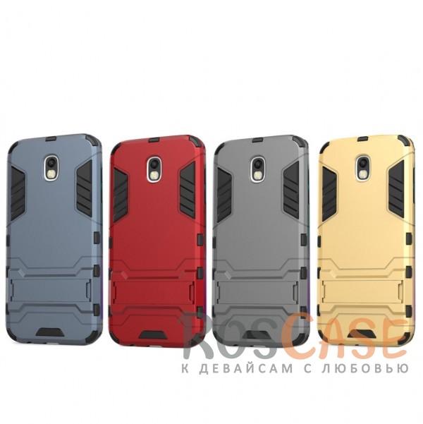 Ударопрочный чехол-подставка Transformer для Samsung J730 Galaxy J7 (2017) с мощной защитой корпусаОписание:совместимость - Samsung J730 Galaxy J7 (2017);материалы - термополиуретан, поликарбонат;тип - накладка;функция подставки;защита от ударов, сколов, трещин;не скользит в руках;прочная конструкция;все необходимые функциональные вырезы.<br><br>Тип: Чехол<br>Бренд: Epik<br>Материал: Пластик