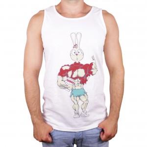 """Muscle Rabbit   Мужская майка со спортивным принтом """"Кролик - Винни Пух"""""""