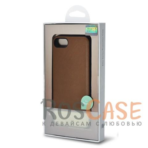 Кожаная накладка с металлической вставкой ROCK Elite Series для Apple iPhone 7 (4.7) (Коричневый / Brown)Описание:производитель  - &amp;nbsp;Rock;разработан для Apple iPhone 7 (4.7);материал  -  искусственная кожа, металл, поликарбонат;тип  -  накладка.&amp;nbsp;Особенности:металлическая вставка;в наличии все функциональные вырезы;не скользит в руках;амортизирует удары;защищает от механических повреждений.<br><br>Тип: Чехол<br>Бренд: ROCK<br>Материал: Искусственная кожа