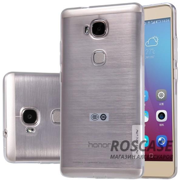 TPU чехол Nillkin Nature Series для Huawei Honor 5X / GR5 (Бесцветный (прозрачный))Описание:производитель  - &amp;nbsp;Nillkin;совместимость: Huawei Honor X5 / GR5;материал  -  термополиуретан;форма  -  накладка.&amp;nbsp;Особенности:в наличии все вырезы;прозрачный;не увеличивает габариты;защита от ударов и царапин;на накладке не видны &amp;laquo;пальчики&amp;raquo;.<br><br>Тип: Чехол<br>Бренд: Nillkin<br>Материал: TPU