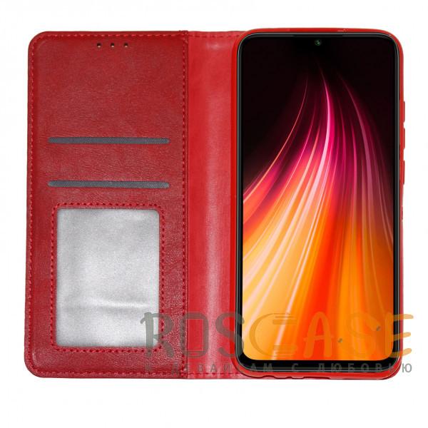 Изображение Красный Business Wallet | Кожаный чехол книжка с визитницей для Xiaomi Redmi Note 9T