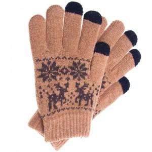 Перчатки Touch Glove для сенсорных (емкостных) экранов Олени