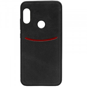 ILEVEL | Чехол с кожаным покрытием и с карманом-визитницей для Xiaomi Redmi Note 6 Pro