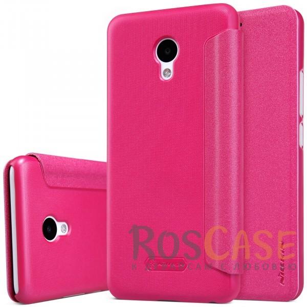 Кожаный чехол (книжка) Nillkin Sparkle Series для Meizu M5 (Розовый)Описание:от компании&amp;nbsp;Nillkin;совместим с Meizu M5;материалы: поликарбонат, искусственная кожа;тип: чехол-книжка.<br><br>Тип: Чехол<br>Бренд: Nillkin<br>Материал: Искусственная кожа