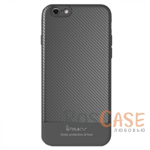 Ультратонкий чехол-накладка с карбоновым покрытием и защитными бортиками для Apple iPhone 7 / 8 (4.7) (Серый)Описание:совместимость - Apple iPhone 7 / 8 (4.7);тип - накладка;материалы - TPU, карбоновое покрытие;не заметны отпечатки пальцев;защита от царапин, сколов, трещин;ультратонкий дизайн;завышенные бортики вокруг камеры;защита клавиш;все необходимые функциональные вырезы.<br><br>Тип: Чехол<br>Бренд: iPaky<br>Материал: Пластик