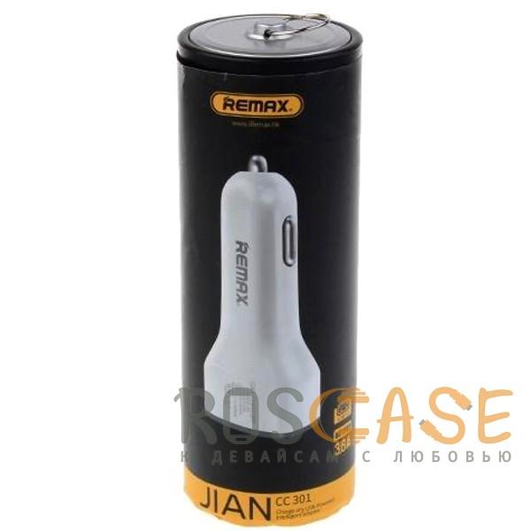 Изображение Белый REMAX RCC301 | Автомобильное зарядное устройство на 3 USB (3.6A)