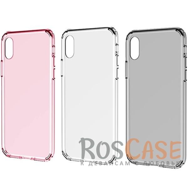 Ультратонкий пластиковый чехол-накладка с дополнительной защитой углов и кнопок для Apple iPhone X (5.8)Описание:производитель -&amp;nbsp;Rock;материалы - поликарбонат, термополиуретан;совместимость - Apple iPhone X (5.8);прозрачная накладка;защищает заднюю панель и боковые стороны;специальный бортик для защиты камеры;предусмотрены все необходимые вырезы для использования устройства.<br><br>Тип: Чехол<br>Бренд: ROCK<br>Материал: Поликарбонат