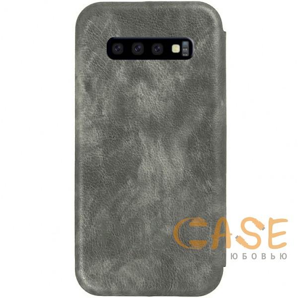 Изображение Серый Open Color 2 | Чехол-книжка на магните для Samsung Galaxy S10+ с подставкой и внутренним карманом