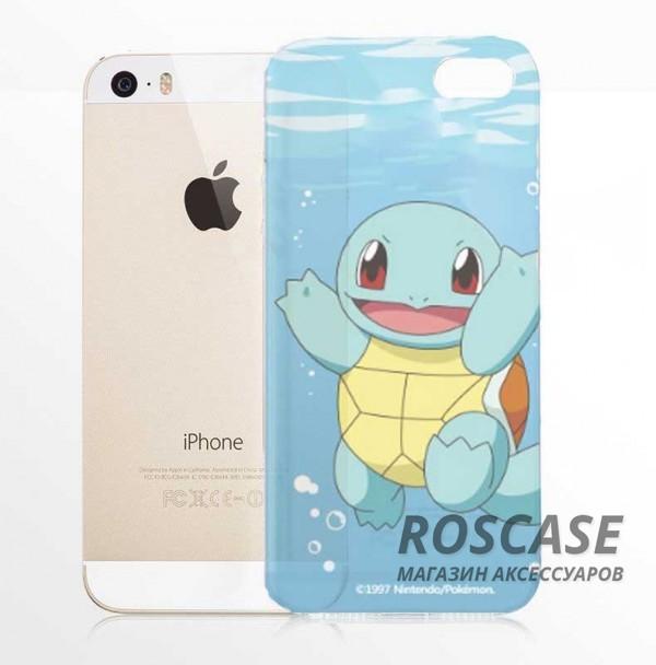 Силиконовый чехол Funny Pokemons для Apple iPhone 5/5S/SE (Squirtle)Описание:бренд:&amp;nbsp;Epik;совместимость: Apple iPhone 5/5S/SE;материал: силикон;тип: накладка.&amp;nbsp;Особенности:принт с покемонами;не скользит в руках;эластичный и гибкий;плотно прилегает;в наличии все функциональные вырезы.<br><br>Тип: Чехол<br>Бренд: Epik<br>Материал: TPU