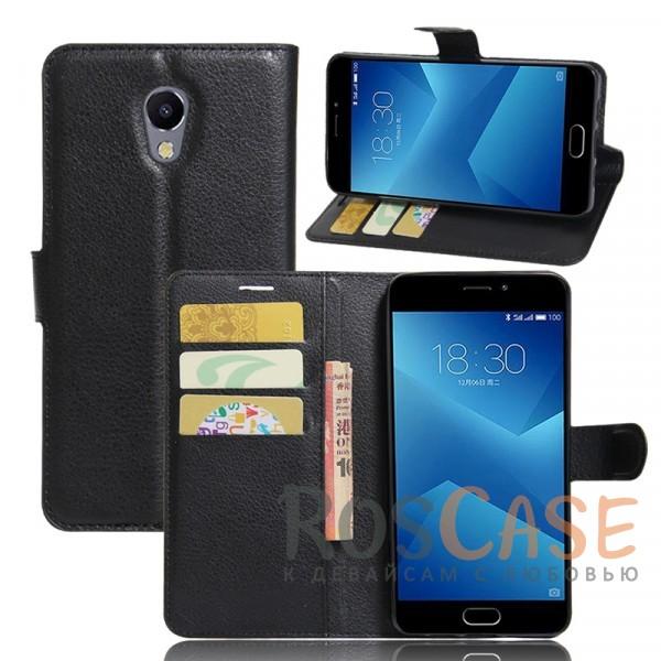 Гладкий кожаный чехол-бумажник на магнитной застежке Wallet с функцией подставки и внутренними карманами для Meizu M5 Note (Черный)Описание:совместим с Meizu M5 Note;материалы  -  искусственная кожа, TPU;форма  -  чехол-книжка;фактурная поверхность;предусмотрены все функциональные вырезы;кармашки для визиток/кредитных карт/купюр;магнитная застежка;защита от механических повреждений.<br><br>Тип: Чехол<br>Бренд: Epik<br>Материал: Искусственная кожа