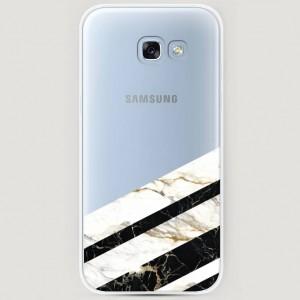 RosCase | Силиконовый чехол Черно-белый мрамор половинка на Samsung A520 Galaxy A5 (2017) для Samsung Galaxy A5 2017 (A520F)