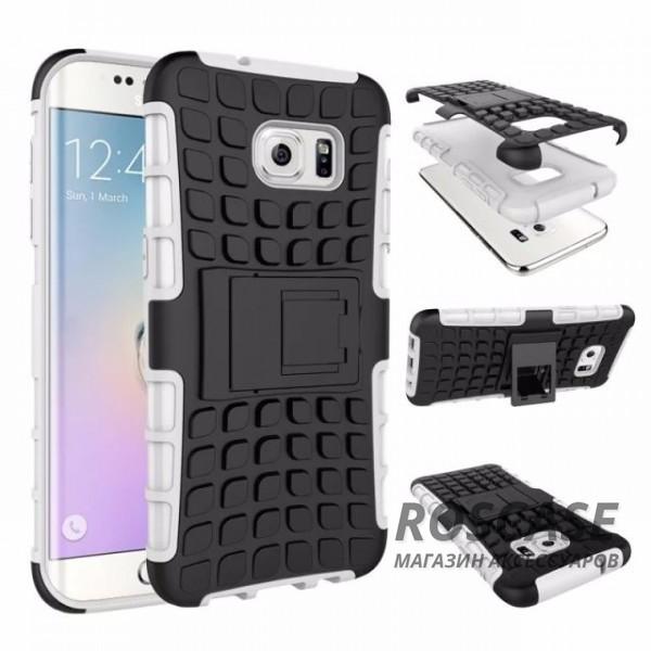 Противоударный двухслойный чехол Shield для Samsung G935F Galaxy S7 Edge с подставкой (Белый)Описание:разработан специально для Samsung G935F Galaxy S7 Edge;материалы: поликарбонат, термополиуретан;тип: накладка.&amp;nbsp;Особенности:двухслойный;ударопрочный;оригинальный дизайн;стильный дизайн;в наличии все функциональные вырезы;функция подставки.<br><br>Тип: Чехол<br>Бренд: Epik<br>Материал: TPU