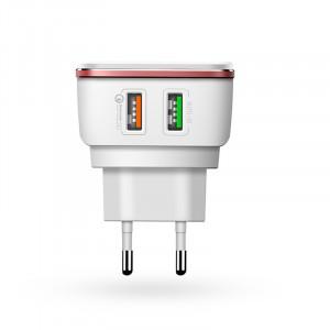 LDNIO A2405Q | Сетевое зарядное устройство (2USB, 4.2A) с кабелем MicroUSB в комплекте