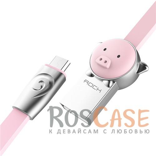 Фото Pig-Pink ROCK Chinese Zodiac | Кабель MicroUSB со штекером в виде животных (1 метр)
