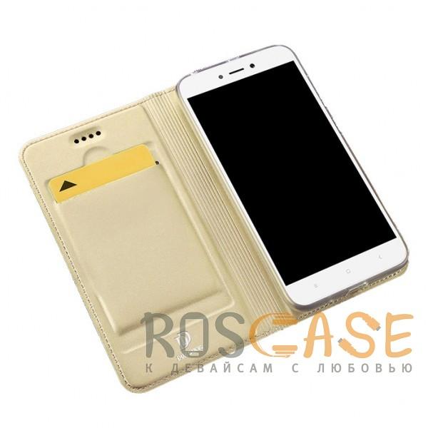 Изображение Золотой Dux Ducis | Чехол-книжка для Xiaomi Redmi 5A с подставкой и карманом для визиток
