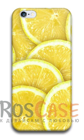 """Фото Лимон Пластиковый чехол RosCase """"Фрукты"""" для iPhone 5/5S/SE"""