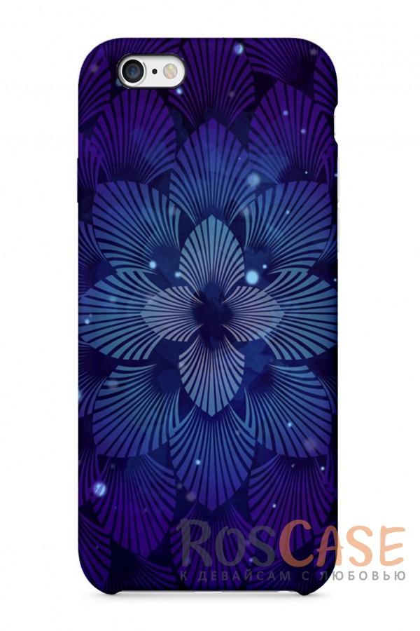 """Фото Синий Цветок Пластиковый чехол RosCase """"Узоры"""" для iPhone 6/6s (4.7"""")"""