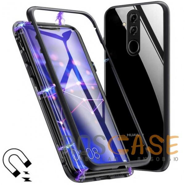 Фото Металлический бампер с задней стеклянной вставкой на магнитной защелке для Huawei Mate 20 lite