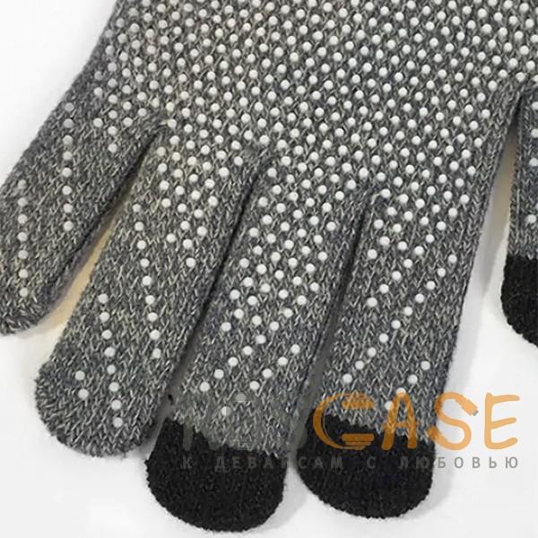 Фото Темно-серый Warm caress | Емкостные перчатки утепленные (нескользящие)