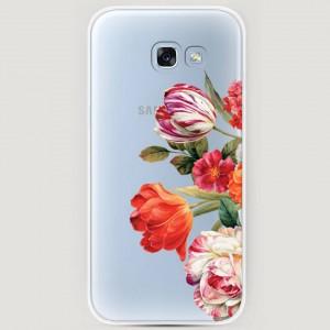 RosCase | Силиконовый чехол Весенний букет на Samsung A520 Galaxy A5 (2017) для Samsung Galaxy A5 2017 (A520F)