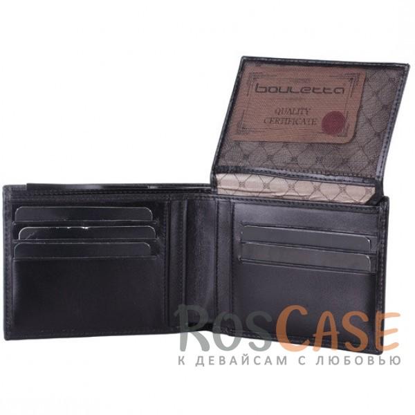 Изображение Мужской кошелек из натуральной кожи с внешним карманом и откидным отделением для водительских прав