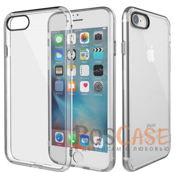 TPU+PC чехол Rock Pure Series для Apple iPhone 7 (4.7) (Бесцветный / Transparent)Описание:изготовлен компанией&amp;nbsp;Rock;совместим с Apple iPhone 7 (4.7);материалы  -  термополиуретан, поликарбонат;тип  -  накладка.&amp;nbsp;Особенности:ультратонкий;в наличии все функциональные вырезы;прозрачная;черная окантовка вокруг камеры для отсутствия блика от вспышки;не скользит в руках;рамка из поликарбоната;защита от царапин и ударов.<br><br>Тип: Чехол<br>Бренд: ROCK<br>Материал: TPU
