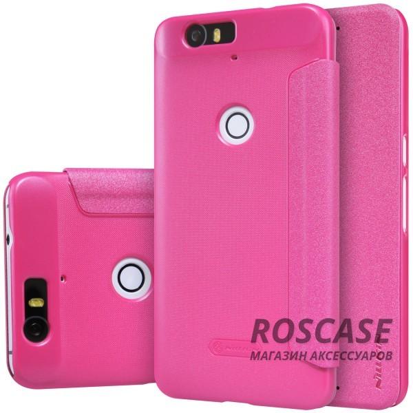Кожаный чехол (книжка) Nillkin Sparkle Series для Huawei Nexus 6P (Розовый)Описание:бренд&amp;nbsp;Nillkin;изготовлен специально для Huawei Nexus 6P;материал: искусственная кожа, поликарбонат;тип: чехол-книжка.Особенности:не скользит в руках;защита от механических повреждений;не выгорает;блестящая поверхность;надежная фиксация.<br><br>Тип: Чехол<br>Бренд: Nillkin<br>Материал: Искусственная кожа